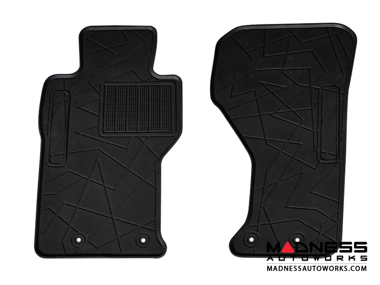 FIAT 124 Floor Mats - All Weather Rubber - LUXUS Premium - Front Set