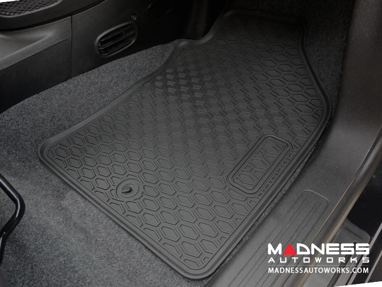 Fiat 500 Floor Mats All Weather Rubber Deluxe Version