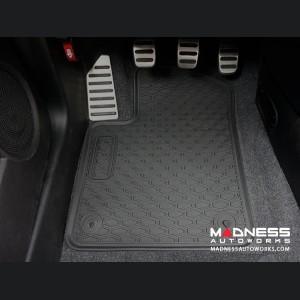 FIAT 500 Floor Mats - All Weather Rubber - LUXUS Premium - Front + Rear Set