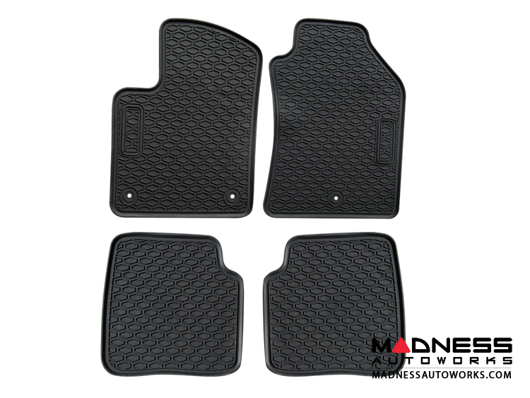 FIAT 500 Floor Mats - All Weather Rubber - LUXUS Premium - Front + Rear Set