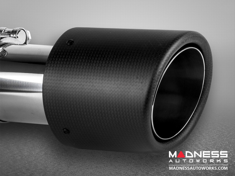 "FIAT 500 Custom Carbon Fiber Exhaust Tip by MADNESS (1) - Carbon Fiber -  2.75"" ID"