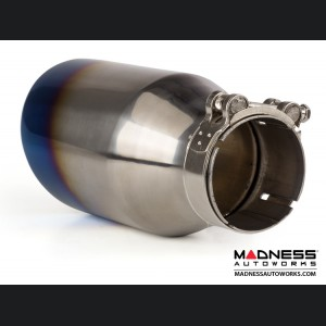 FIAT 500 Performance Exhaust - MADNESS - 1.4L Turbo - Axle Back - Dual Exit - Blue Flame Tips