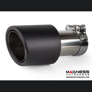 FIAT 500 Performance Exhaust - MADNESS - 1.4L Turbo - Axle Back - Dual Exit - Carbon Fiber Tips