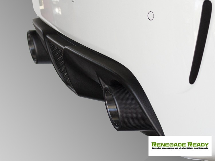FIAT 500 Custom Carbon Fiber Exhaust Tips by MADNESS (2