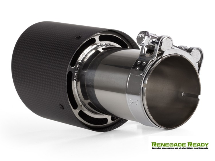 Fiat custom carbon fiber exhaust tip by madness