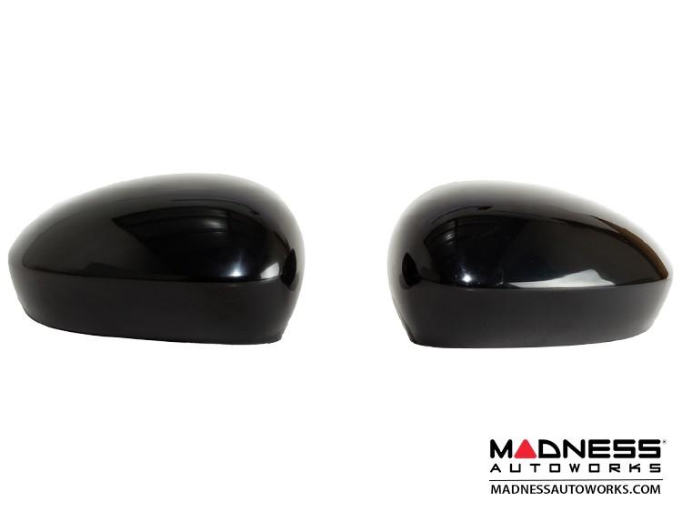 FIAT 500 Mirror Covers - Unpainted Black Finish - 2015 Model