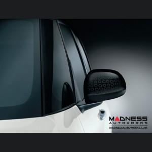 FIAT 500L Mirror Covers - Black w/ Technics Effect