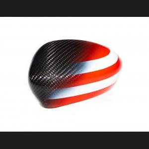 FIAT 500 Mirror Covers - Carbon Fiber - American Flag