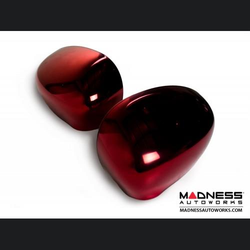 FIAT 500 Mirror Covers - Red Metallic Chrome Finish