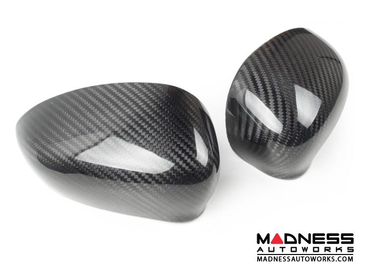 FIAT 500 Mirror Covers - Carbon Fiber