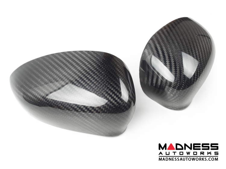 FIAT 500 Mirror Covers by Feroce - Carbon Fiber