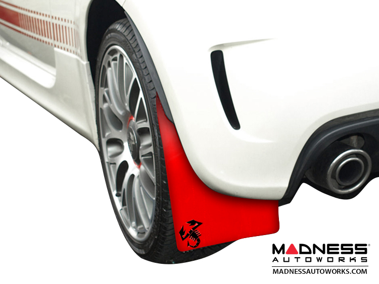 Poster: 500 MADNESS ABARTH Mud Flaps by RALLYFLAPZ