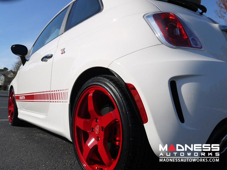 fiat 500 custom wheel neu f rse05 17 wheel red finish. Black Bedroom Furniture Sets. Home Design Ideas