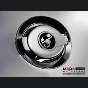 FIAT 500 Fuel Door - Chrome w/ ABARTH Scorpion Logo - Genuine FIAT