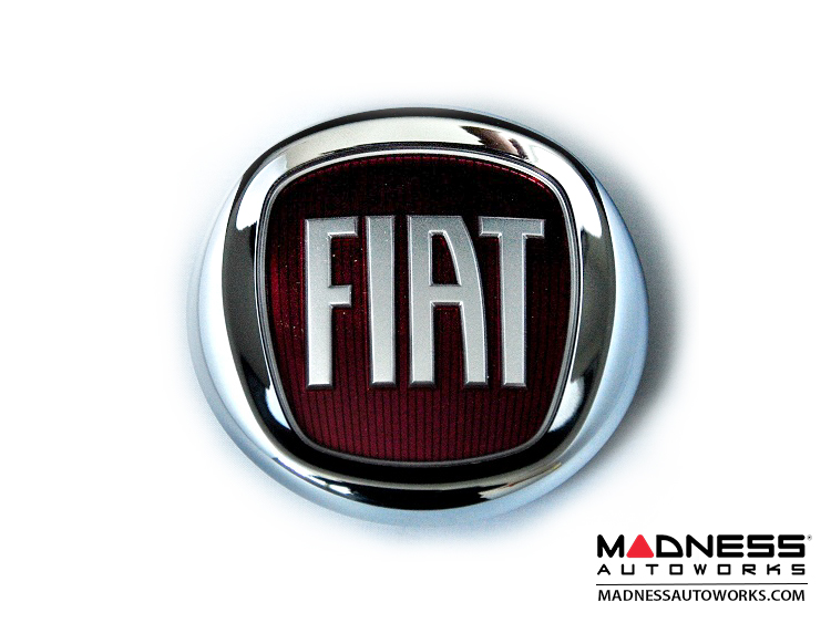 fiat 500 badge genuine fiat front fiat 500 parts and accessories. Black Bedroom Furniture Sets. Home Design Ideas