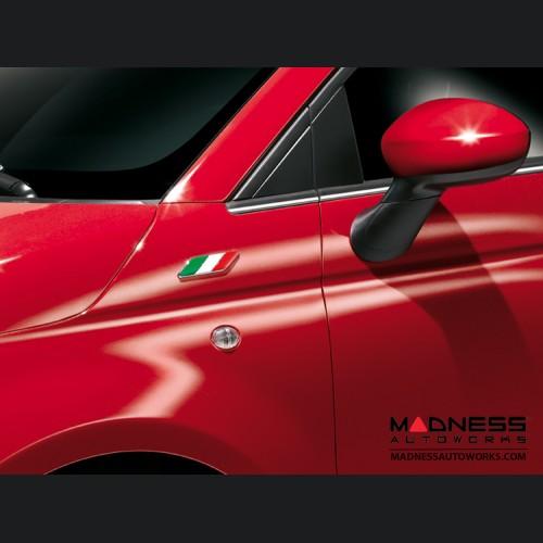 FIAT 500 Badges - Italian Flag Design - set of 2