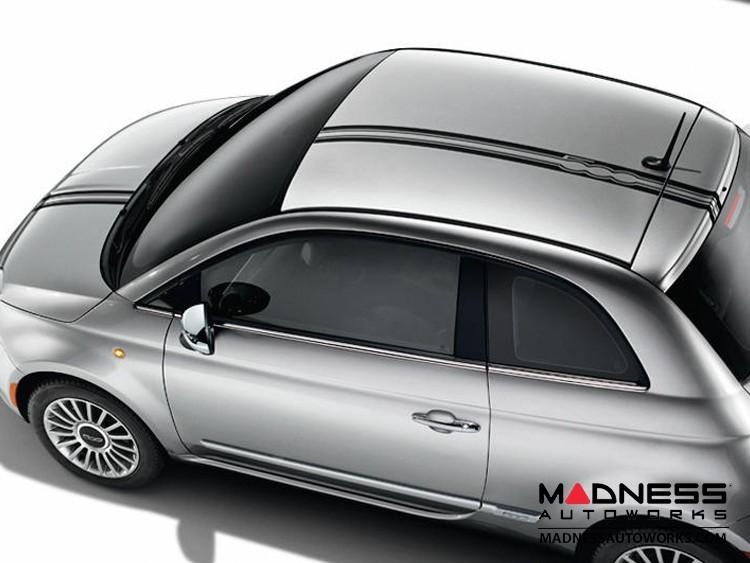 FIAT 500 Graphics - 500 Logo Stripes (Black)