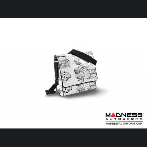 Shoulder Bag -  White w/ FIAT 500 Art