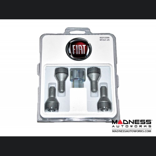 FIAT 500 Wheel Locks - Genuine FIAT