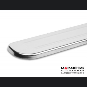 FIAT 500 Door Sills - Wireless LED Lighted - Polished SS w/ ABARTH Logo