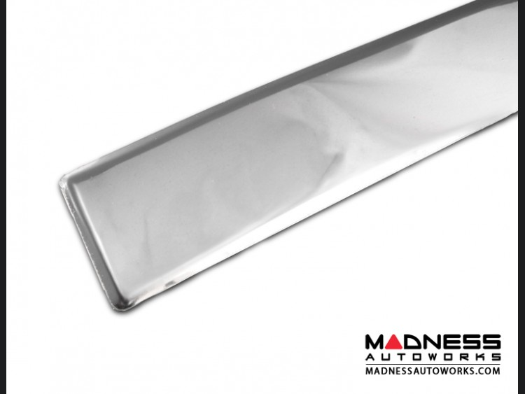 ... FIAT 500L Chrome Rear Hatch Door Trim   High Polished Stainless Steel