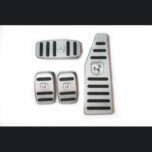 FIAT 500 Pedal Set - Alutex Carbon Fiber - Silver Carbon - ABARTH - Manual