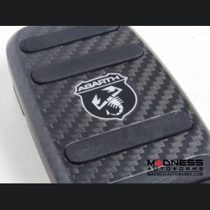 FIAT 500 Pedal Set + Footrest - Alutex Carbon Fiber - Dark Carbon - ABARTH - Manual