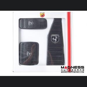 FIAT 500 Pedal Set + Footrest - Alutex Carbon Fiber - Dark Carbon - ABARTH - Automatic