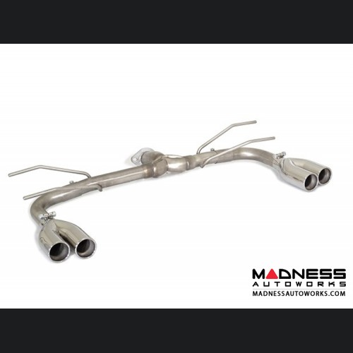FIAT 124 Spider Performance Axle Back Exhaust - Ragazzon - Evo Line - Straight Free Flowing - Round Staggered Quad Tips