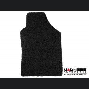 FIAT 500 All Weather Floor Mats - All Weather Rubber - Coiled PVC - Front + Rear Set - Black