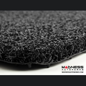 FIAT 500 All Weather Cargo Mat - Custom Rubber Woven Carpet - Black