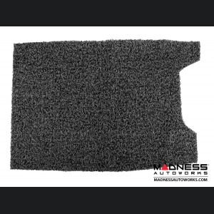FIAT 500 All Weather Cargo Mat - Custom Rubber Woven Carpet - Black and Grey