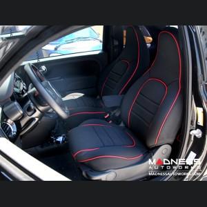 FIAT 500 Seat Covers - Front Seats - Custom Neoprene Design - ABARTH Model