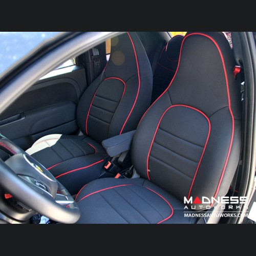 FIAT 500 Seat Covers - Front Seats - Custom Neoprene Design - ABARTH Model