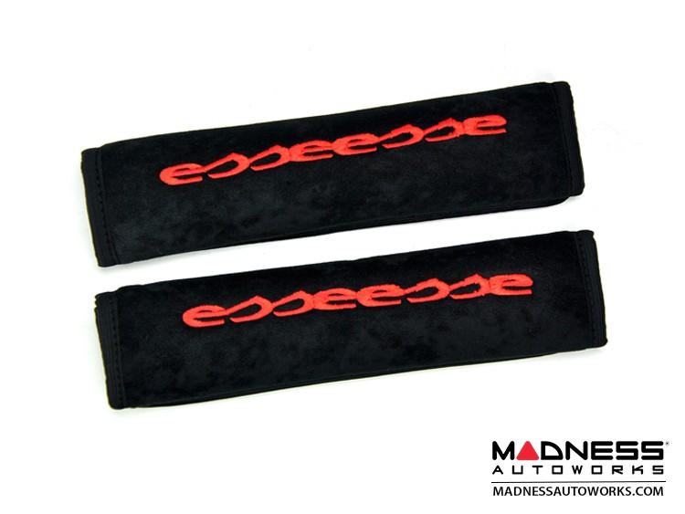 Seat Belt Shoulder Pads (set of 2) - w/ Red Esseesse Logo - Black Pads
