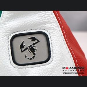 FIAT 500 Gear Shift Boot - Italian Colors Leather w/ ABARTH Logo