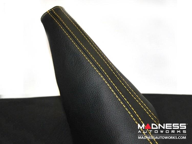 FIAT 500 eBrake Boot - Black Leather w/ Yellow Stitching