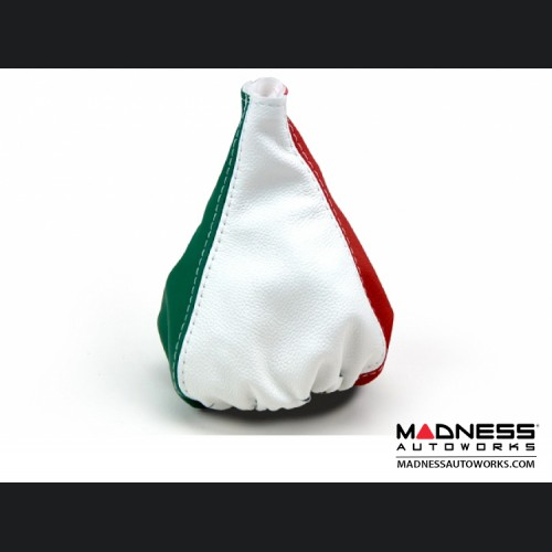 FIAT 500 Gear Shift Boot - Italian Colors Leather