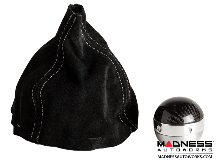 FIAT 500 Gear Shift Knob + Boot by Magneti Marelli - Real Carbon Fiber