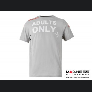 """ABARTH T-Shirt - """"Adults Only"""" - Gray"""