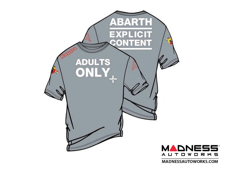 "ABARTH T-Shirt - ""Adults Only"" - Gray"