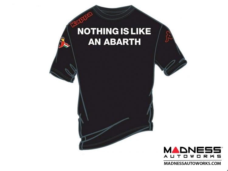"ABARTH T-Shirt - ""Nothing like an ABARTH"" - Black"