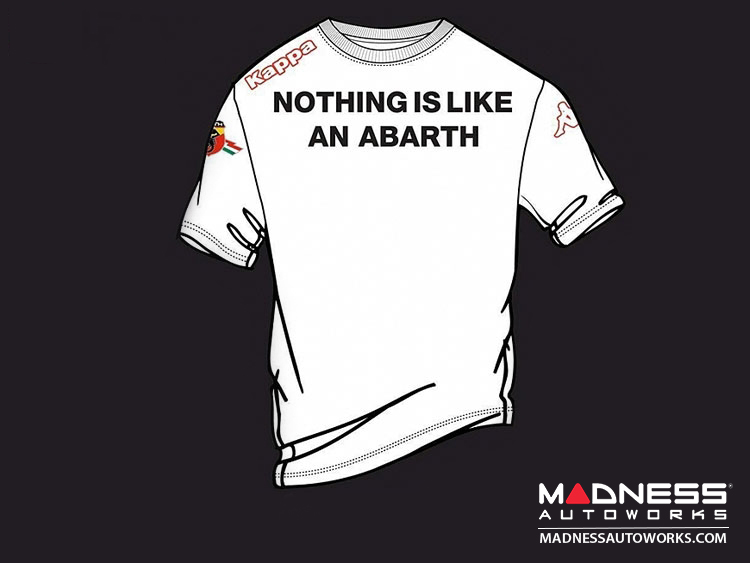 "ABARTH T-Shirt - ""Nothing like an ABARTH"" - White"