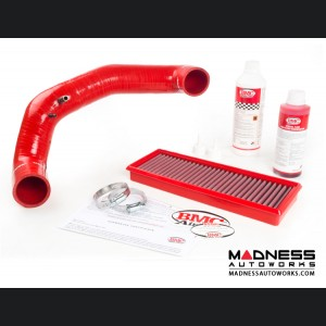 FIAT 500 Air Filter Housing Upgrade Kit - 1.4L Multi Air Turbo Engine - Red Silicone w/ BMC Filter (pre 2015 model)