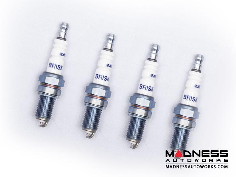 FIAT 124 Spark Plugs - Silver Racing - Brisk - set of 4