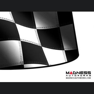 FIAT 124 Windshield Custom Sunshade - Racing Flag Design