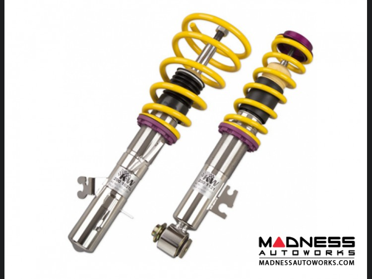 Fiat 500 coilover kit by kw variant 3 type 312 inox for Suspension inox