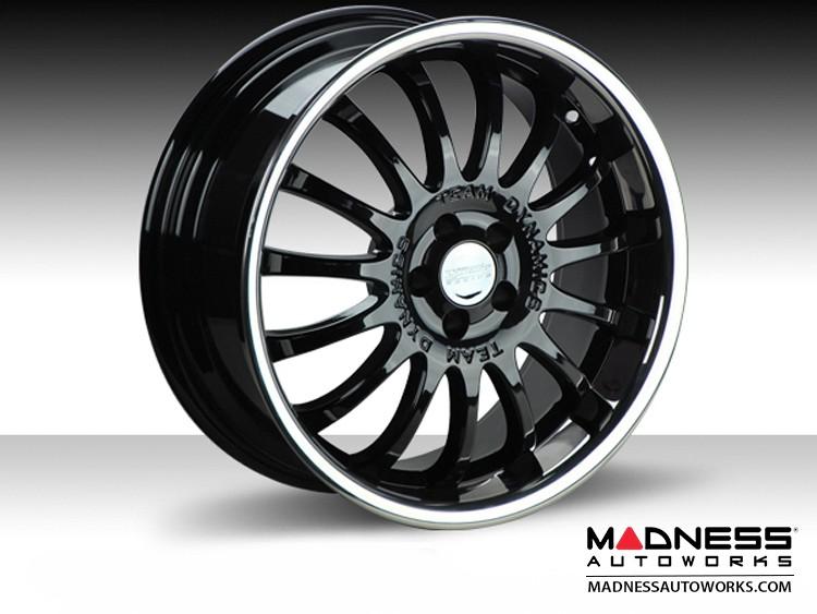 """FIAT 500L Custom Wheels by Team Dynamics - Equinox - 18"""" - Gloss Black w/ Mirror Lip"""