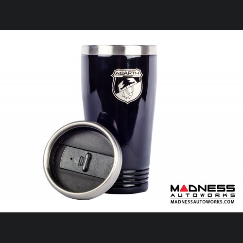 FIAT Coffee Tumbler - Black Finish w/ ABARTH Crest