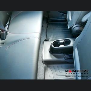 FIAT 500 Floor Liners - All Weather - WeatherTech - Rear Set - Black